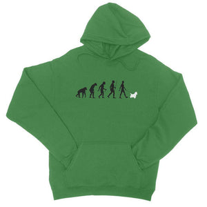 The Evolution Of Man And Westie College Hoodie Apparel kite.ly S Kelly Green