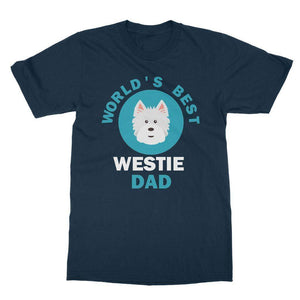 World's Best Westie Dad Tee Apparel kite.ly S Navy