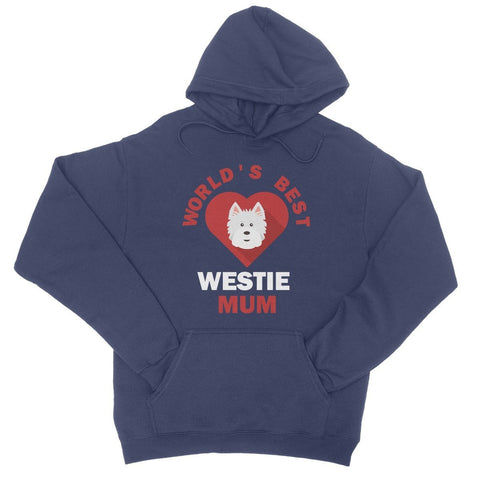 Image of World's Best Westie Mum College Hoodie Apparel kite.ly S New French Navy