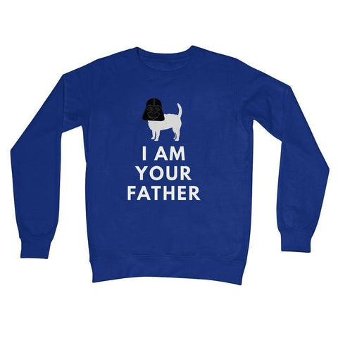 Darth Westie Father Crew Neck Sweatshirt Apparel kite.ly S Royal Blue