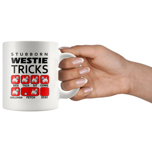 Stubborn Westie Tricks Mug Red Drinkware teelaunch