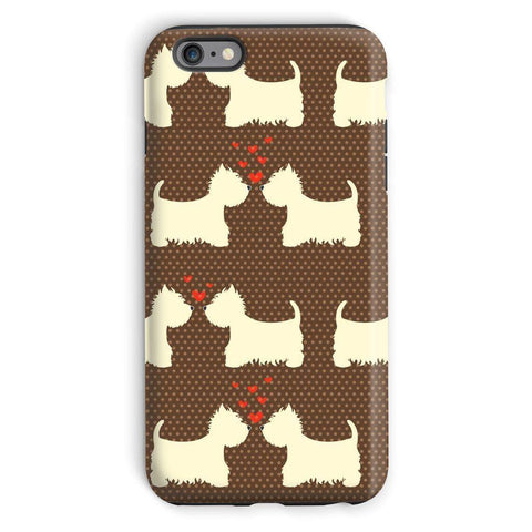 Image of Westies in Love Brown Phone Case Phone & Tablet Cases kite.ly iPhone 6s Plus Tough Gloss