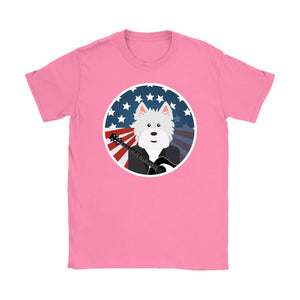 American Westie With a Guitar Softstyle T-shirt T-shirt teelaunch Gildan Womens T-Shirt Azalea S