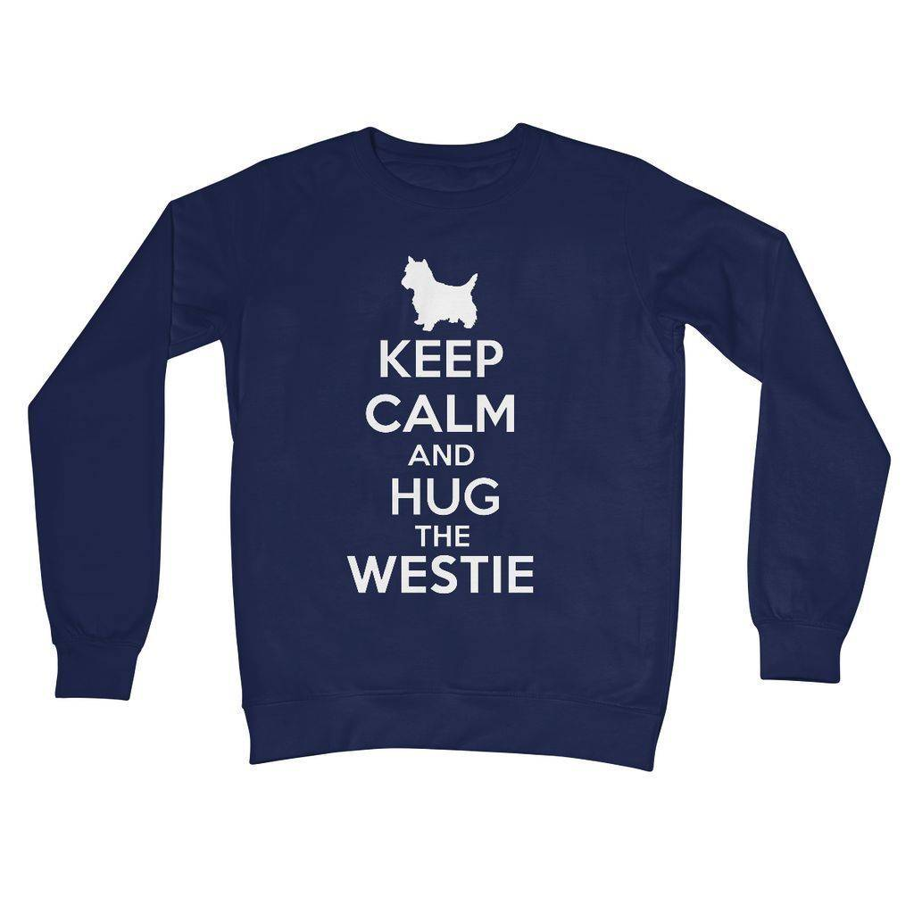 Keep Calm and Hug The Westie Crew Neck Sweatshirt