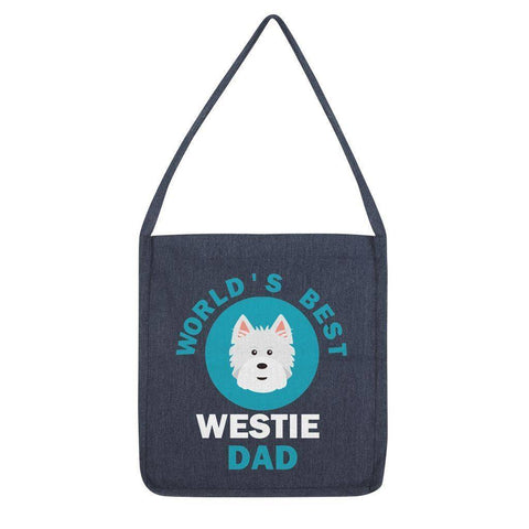 World's Best Westie Dad Tote Bag Accessories kite.ly Melange Navy