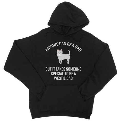Special Westie Dad College Hoodie Apparel kite.ly S Jet Black