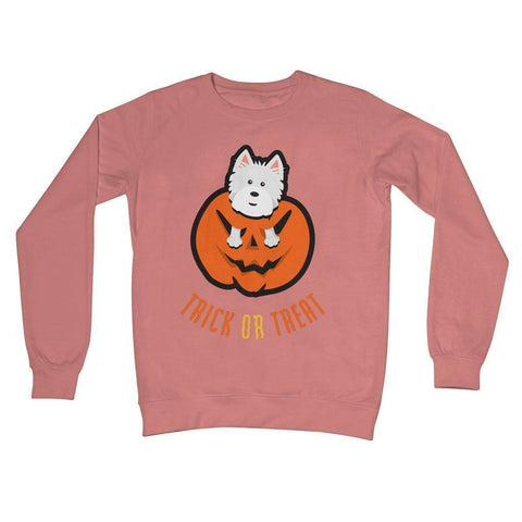 Trick or Treat Westie Crew Neck Sweatshirt