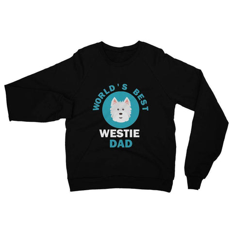 Image of World's Best Westie Dad Heavy Blend Crew Neck Sweatshirt Apparel kite.ly S Black