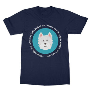 Happy Westie - Big Bang Theory Softstyle T-shirt Apparel kite.ly S Navy