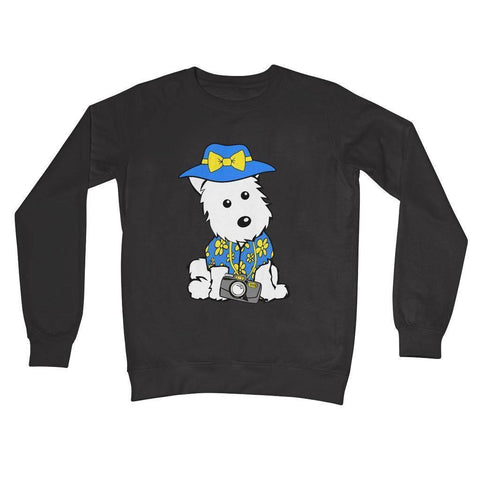 Summer Holiday Westie Crew Neck Sweatshirt Apparel kite.ly S Charcoal