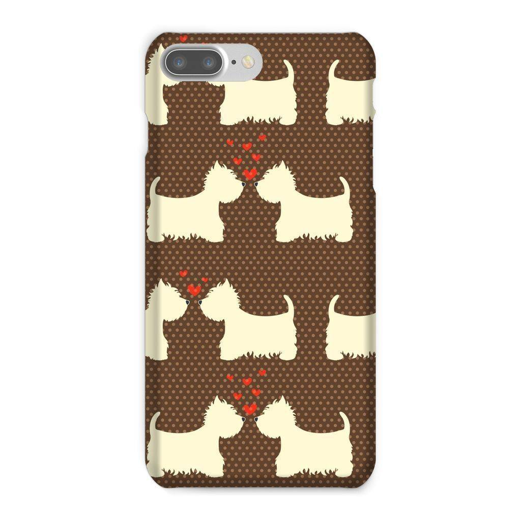 Westies in Love Brown Phone Case Phone & Tablet Cases kite.ly iPhone 8 Plus Snap Gloss
