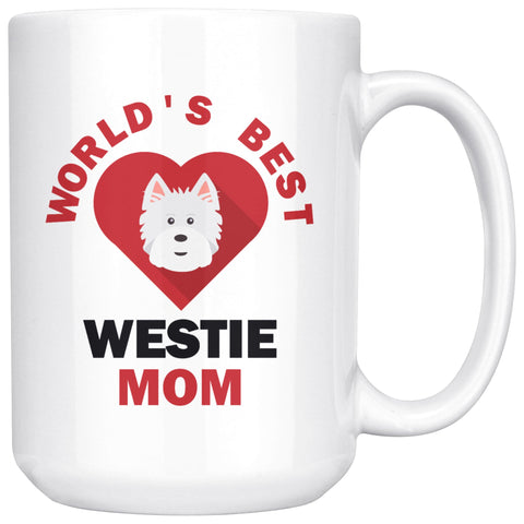 Image of Worlds Best Westie MOM Mug Drinkware teelaunch 15oz Mug