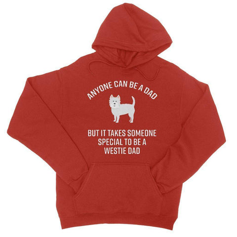 Special Westie Dad College Hoodie Apparel kite.ly S Fire Red