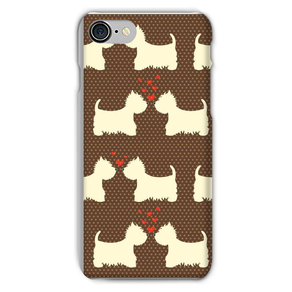 Westies in Love Brown Phone Case Phone & Tablet Cases kite.ly iPhone 8 Snap Gloss