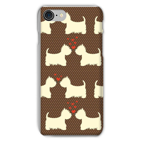 Image of Westies in Love Brown Phone Case Phone & Tablet Cases kite.ly iPhone 8 Snap Gloss