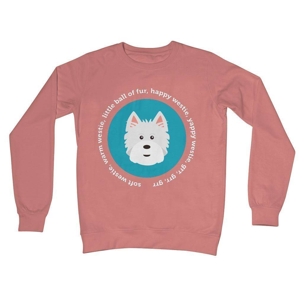 Happy Westie - Big Bang Theory Crew Neck Sweatshirt Apparel kite.ly S Dusty Pink