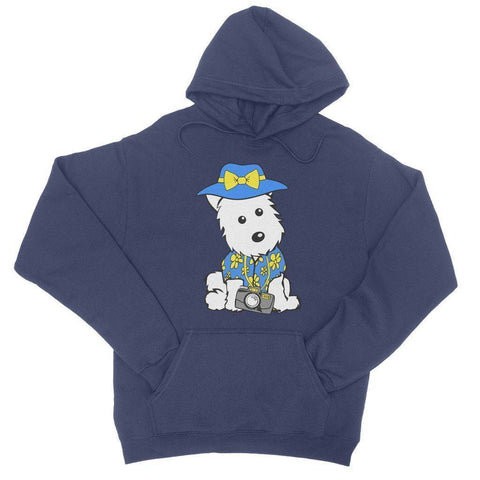 Image of Summer Holiday Westie College Hoodie Apparel kite.ly S New French Navy