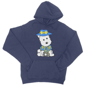 Summer Holiday Westie College Hoodie Apparel kite.ly S New French Navy