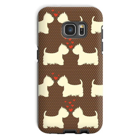 Image of Westies in Love Brown Phone Case Phone & Tablet Cases kite.ly Galaxy S7 Tough Gloss