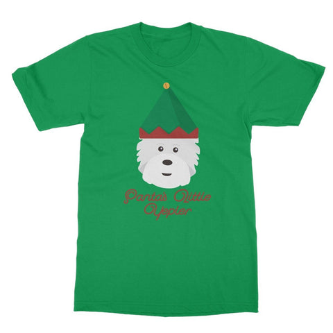 Image of Santas Little Yelper Softstyle T-shirt Apparel kite.ly S Irish Green
