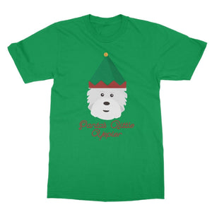 Santas Little Yelper Softstyle T-shirt Apparel kite.ly S Irish Green