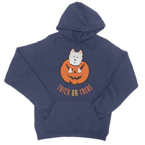 Trick or Treat Westie College Hoodie