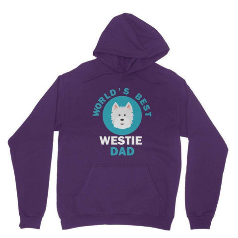 World's Best Westie Dad Hoodie Apparel kite.ly XS Purple