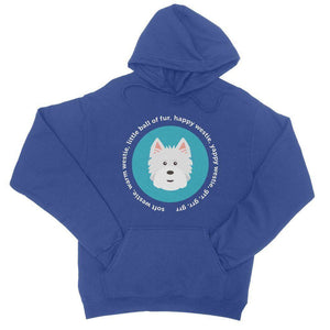 Happy Westie - Big Bang Theory College Hoodie Apparel kite.ly S Royal Blue