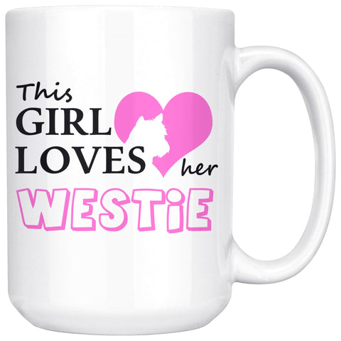 Image of This Girl Loves Her Westie Mug Drinkware teelaunch 15oz Mug