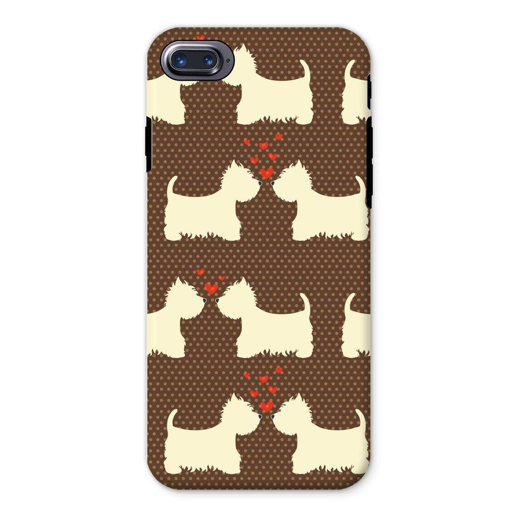 Westies in Love Brown Phone Case Phone & Tablet Cases kite.ly iPhone 8 Tough Gloss