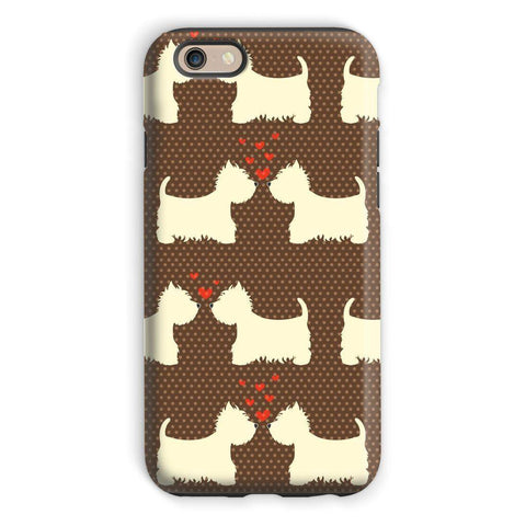 Image of Westies in Love Brown Phone Case Phone & Tablet Cases kite.ly iPhone 6s Tough Gloss