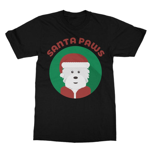 Image of Santa Paws Softstyle T-shirt Apparel kite.ly S Black