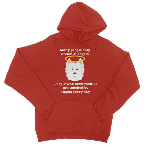 Image of Westie Angel Hoodie Apparel kite.ly S Fire Red