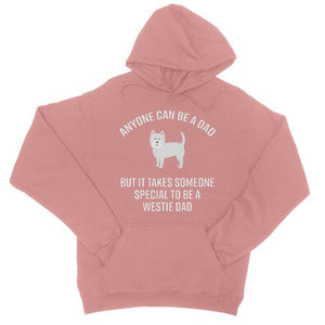 Special Westie Dad College Hoodie Apparel kite.ly S Dusty Pink
