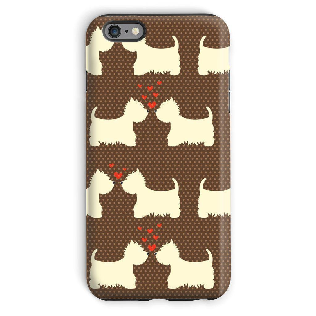 Westies in Love Brown Phone Case Phone & Tablet Cases kite.ly iPhone 6 Plus Tough Gloss