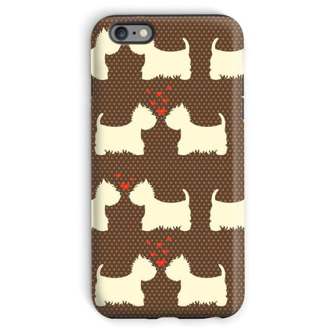 Image of Westies in Love Brown Phone Case Phone & Tablet Cases kite.ly iPhone 6 Plus Tough Gloss