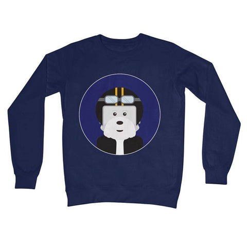Image of Westie Biker Crew Neck Sweatshirt Apparel kite.ly S New French Navy