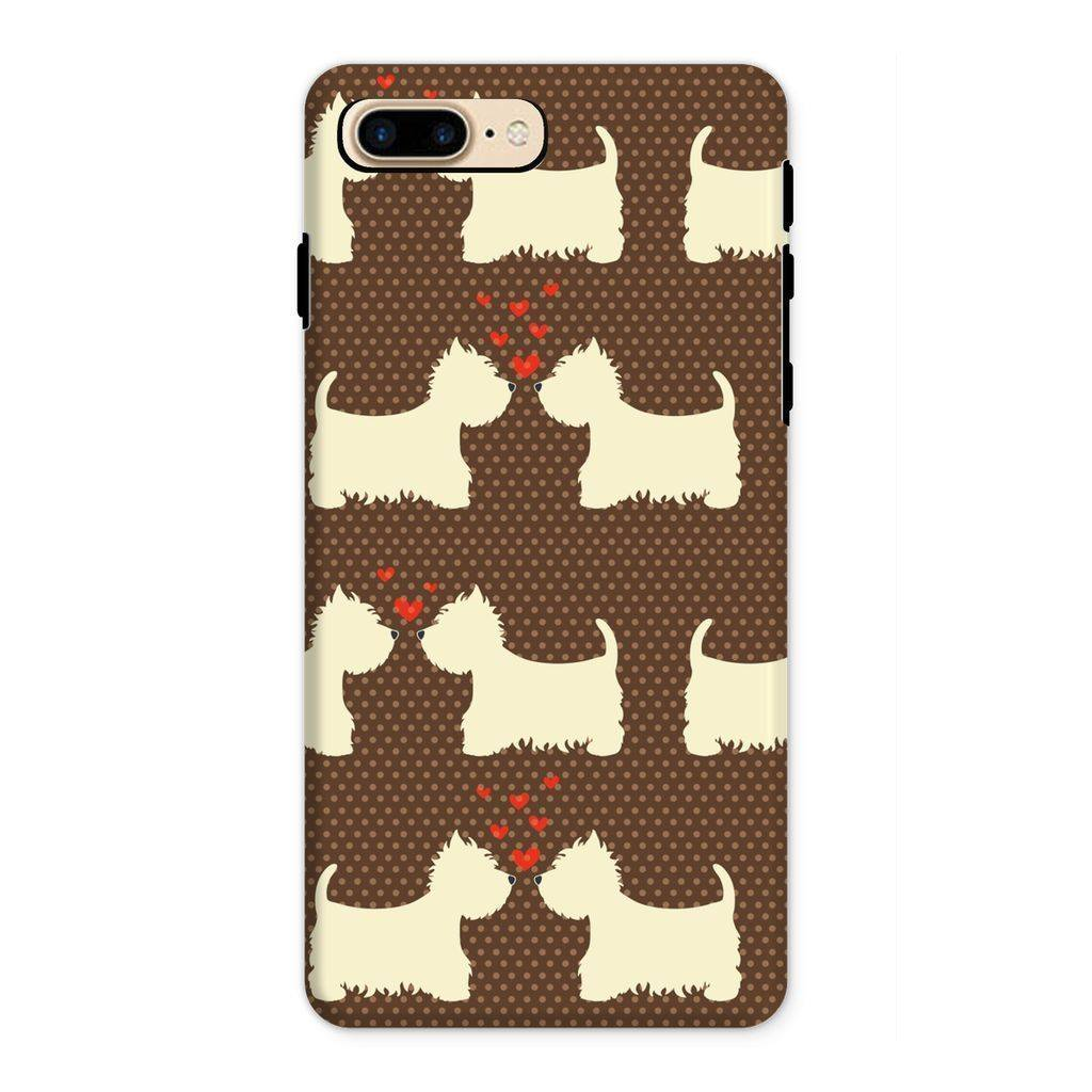 Westies in Love Brown Phone Case Phone & Tablet Cases kite.ly iPhone 8 Plus Tough Gloss