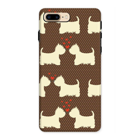 Image of Westies in Love Brown Phone Case Phone & Tablet Cases kite.ly iPhone 8 Plus Tough Gloss