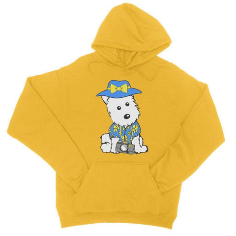 Image of Summer Holiday Westie College Hoodie Apparel kite.ly S Gold