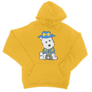 Summer Holiday Westie College Hoodie Apparel kite.ly S Gold