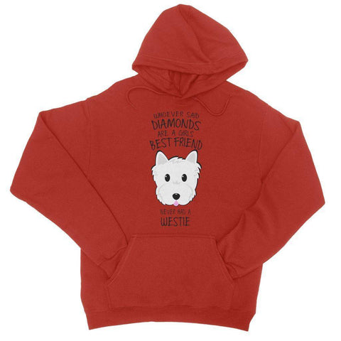 Whoever Said Diamonds College Hoodie Apparel kite.ly S Fire Red