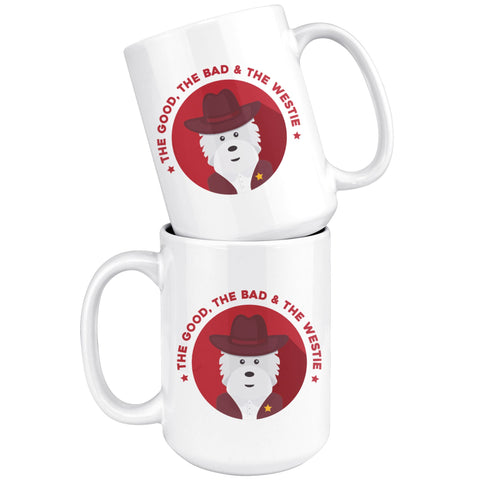 The Good, The Bad and The Westie Mug Drinkware teelaunch