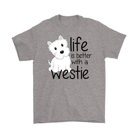 Life is Better With a Westie Softstyle T-shirt T-shirt teelaunch Gildan Mens T-Shirt Sport Grey S