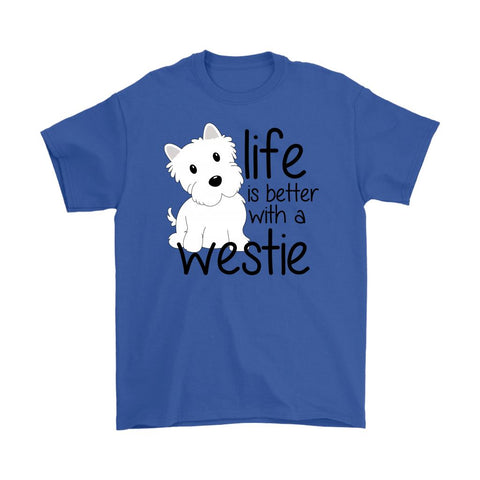 Image of Life is Better With a Westie Softstyle T-shirt T-shirt teelaunch Gildan Mens T-Shirt Royal Blue S