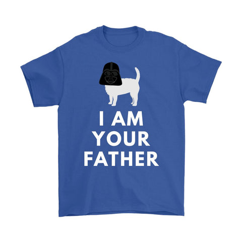Image of Darth Westie Father Softstyle T-shirt T-shirt teelaunch Gildan Mens T-Shirt Royal Blue S