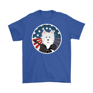 American Westie With a Guitar Softstyle T-shirt T-shirt teelaunch Gildan Mens T-Shirt Royal Blue S