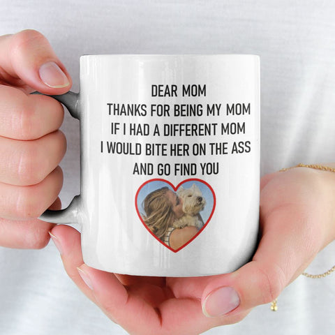 Image of Dear Mum/Mom Personalised Funny Mug For Dog Mothers Personalized Drinkware teelaunch
