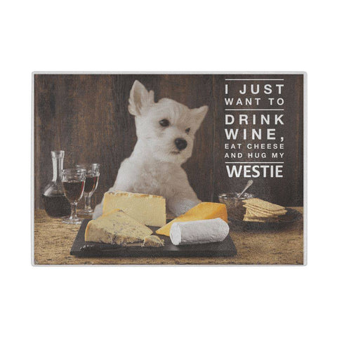 Westie Glass Cheeseboard Cutting Boards teelaunch USA Supplier
