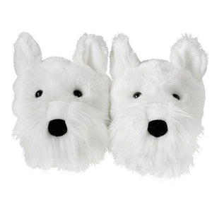 White Westie Slippers - West Highland Terrier Slippers